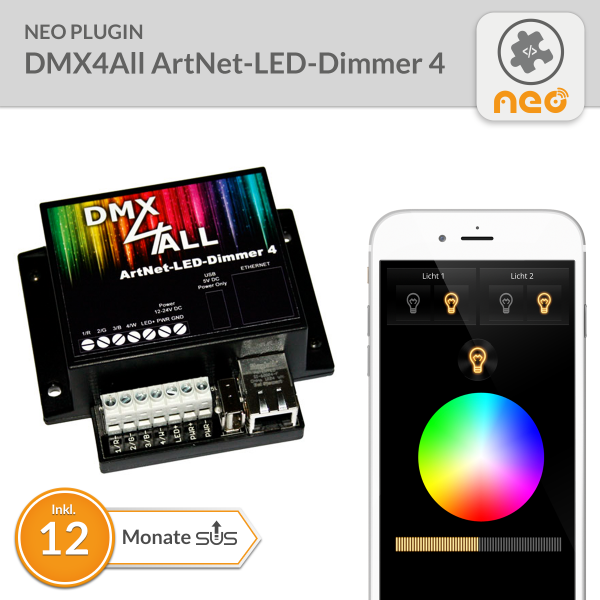 NEO Plugin DMX4All ArtNet-LED-Dimmer 4