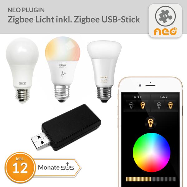 NEO Plugin Zigbee Licht inkl. Zigbee USB-Stick