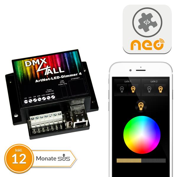 NEO Plugin DMX4All ArtNet-LED-Dimmer 4