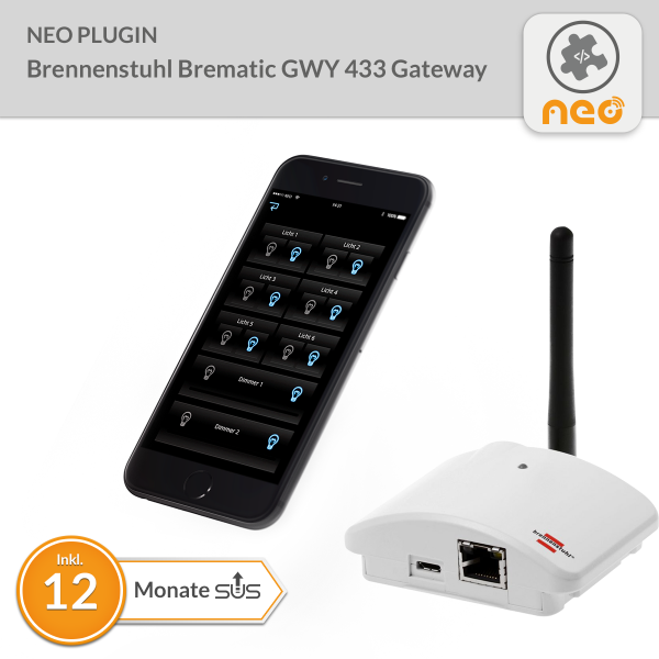 NEO Plugin Brennenstuhl Brematic GWY 433 Gateway