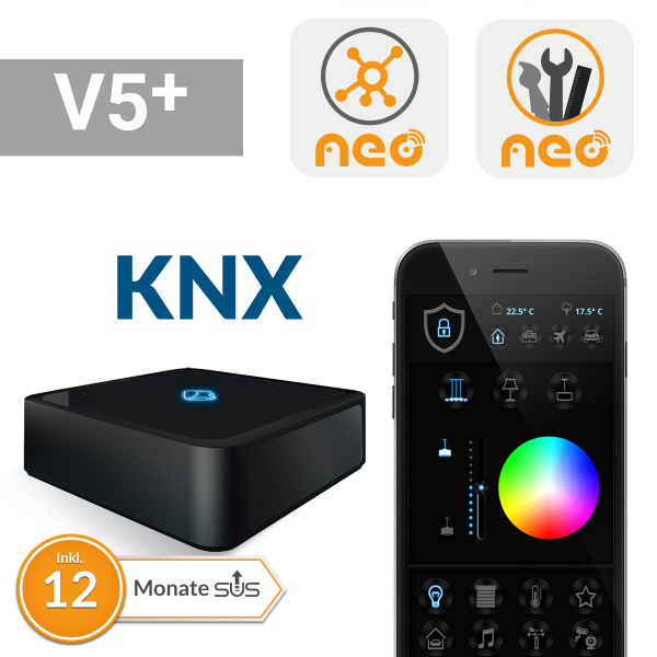 AIO Gateway V5 Plus inkl. NEO Plugins mediola GW, AUTO-Mngr und KNX, Lizenzkey-Card