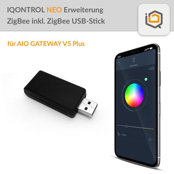 IQONTROL NEO Erweiterung Zigbee Licht inkl. Zigbee USB-Stick