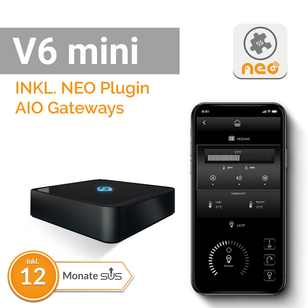 AIO Gateway V6 mini inkl. AIO Gateways Plugin, Lizenzkey-Card